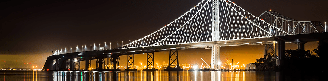 East Span Bay Bridge at night